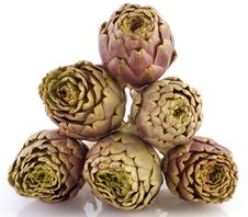Free Artichokes On White Background Stock Image - 8614481