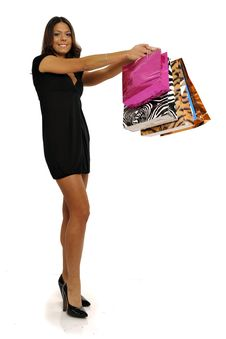 Business Woman Going Shopping Stock Images