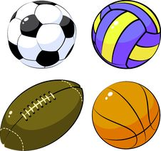 Free Four Balls Stock Photography - 8614872