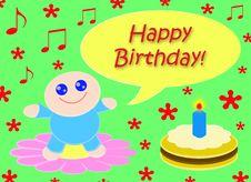 Free Happy Happy Birthday_Green Stock Photography - 8615742