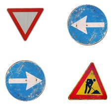 Free European Road Sign Background Stock Photography - 8615942