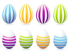 Easter Eggs Collection For Your Design Royalty Free Stock Image