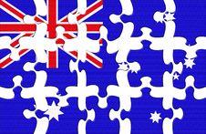 Flag Of Australia Puzzle Royalty Free Stock Photography