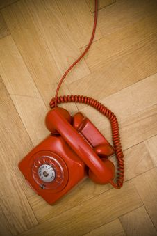 Red Telephone Stock Image