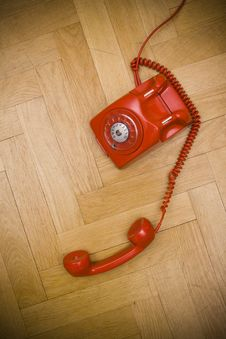 Free Red Telephone Royalty Free Stock Image - 8617366