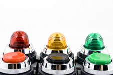 Free Power Button And Status Indicator Light Royalty Free Stock Photos - 8617748
