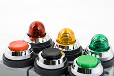 Free Power Button And Status Indicator Light Stock Photography - 8617752