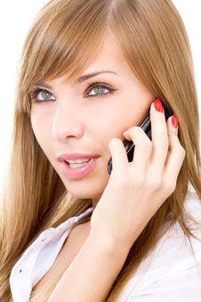 Free On The Phone Stock Photos - 8618183