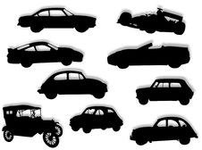 Free Cars In Silhouette Royalty Free Stock Image - 8618506
