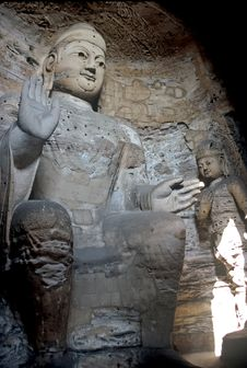Free Buddhas In Yungang Caves ,China Royalty Free Stock Images - 8618639