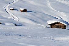 Free Mountain Landscape, Snow, Chalet Royalty Free Stock Photos - 8618888