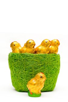 Free Easter Chocolate Chickens In Grass-tidy Royalty Free Stock Photography - 8619607