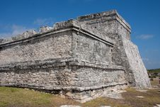 Free Castillo (The Castle) Temple At Tulum Stock Photo - 8619610