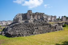 Free Tulum Ruins Royalty Free Stock Photos - 8619648