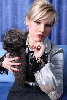 Free Girl With Fur Royalty Free Stock Photography - 8619997