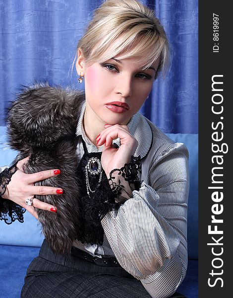 Girl with fur