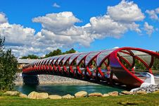 Free Peace Bridge Calgary &x28;2&x29; Stock Photo - 86174960
