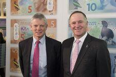 Free Governor Graeme Wheeler And Prime Minister John Key Stock Photography - 86175742