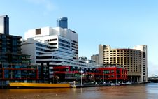 Free WTC Wharf. Yarra River Melbourne. Stock Photos - 86175913