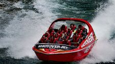 Free Riding The Canyon...The Shotover Jet. Stock Photography - 86176732