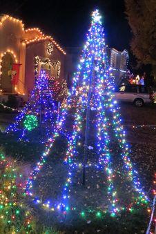 Free Xmas Lights 2 Stock Photos - 86176823
