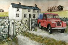 Free Red Series 1 Landrover Royalty Free Stock Photo - 86177125