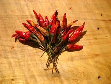 Free Bouquet Of Dried Chili Peppers Stock Images - 86177304