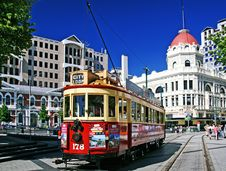 Free Trams Christchurch NZ Royalty Free Stock Images - 86177349