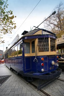 "Free Tram 411 ""Tramway Restaurant"" Royalty Free Stock Photography - 86177397"