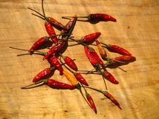 Free Heap Of Dried Chili Peppers Stock Photos - 86177463
