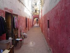 Free Ruelle Rouge, Kasbah Des Oudayas &x28;Rabat, Maroc&x29; Stock Photography - 86178672
