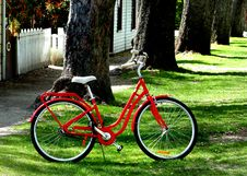 Free The Red Bicycle. Stock Photos - 86178703