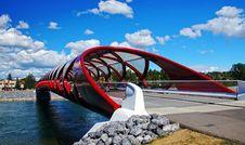 Free Peace Bridge Calgary Alberta. Stock Photography - 86178752