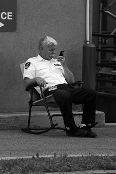 Free Security Guard On Duty Stock Photos - 86179893