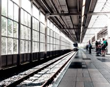 Free Black And White Photo Of Trainstation Royalty Free Stock Photo - 86181035