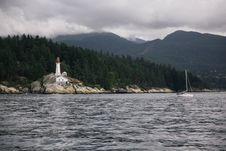 Free Sailboat Off The Coast Stock Photo - 86181500