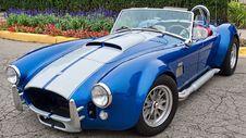 Free Blue And Gray Convertible Car Royalty Free Stock Image - 86181896