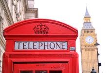 Free Big Ben And Red Telephone Box In London Royalty Free Stock Photo - 86184785