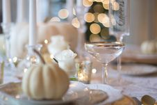 Free Elegant Table Setting Stock Photo - 86186440