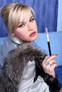 Free Girl With  Cigarette Stock Images - 8620094