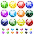Free Glossy Buttons With Zodiac Signs Royalty Free Stock Photos - 8621648