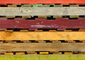 Free Colored Wooden Pallets - Close-Up Stock Images - 8622294