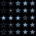 Free Blue Stars. Design Elements. Vector. Stock Images - 8624954