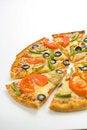Free Homemade Pizza Fresh Tomato Olive Mushroom Cheese Stock Photography - 8627062