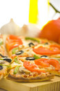 Free Homemade Pizza Fresh Tomato Olive Mushroom Cheese Royalty Free Stock Photo - 8627175
