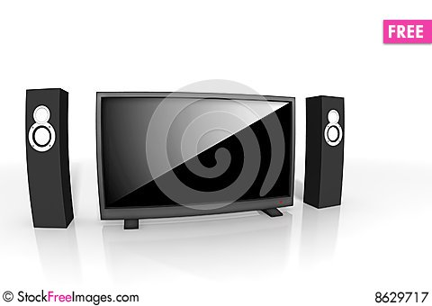Free Home Theater / High Definition Television Royalty Free Stock Photography - 8629717