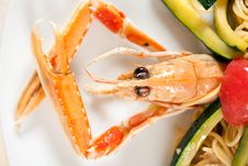 Seafood On A Plate Royalty Free Stock Images