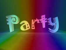 Free Party In Rainbow Colors Stock Photos - 8620183