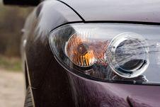Forward Headlight Of The Car Stock Photos