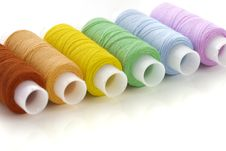 Free Colorful Spools Threads Stock Photo - 8622790